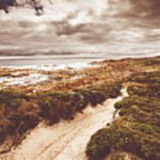 Pathways To Seaside Paradise Poster