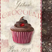 Patisserie Chocolate Cupcake Poster