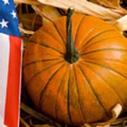 Patriotic American Pumpkin Poster