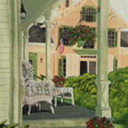 Patriotic Country Porch Poster