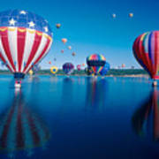 Patriotic Hot Air Balloon Poster