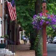 Patriotic Street In Philadelphia Poster