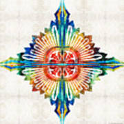 Pattern Art - Color Fusion Design 1 By Sharon Cummings Poster
