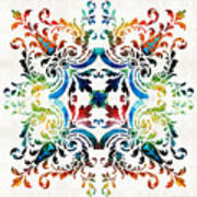 Pattern Art - Color Fusion Design 7 By Sharon Cummings Poster