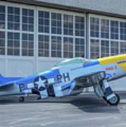 Paul 1 P-51d Mustang Poster