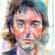 Paul McCartney young portrait Poster