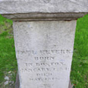 Paul Revere Grave  Poster