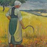 Paul Serusier 1864 - 1927 Breton Young To Sickle Poster