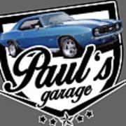 Pauls Garage Camaro Poster