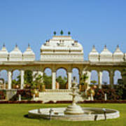 Pavilion And Fountain, Udaipur, India Poster