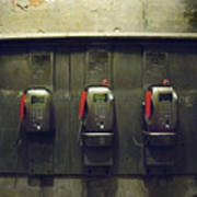 Pay Phones In Alley, Venice Poster