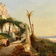 Paysage De La Cte Amalfitaine Avec Des Poster