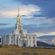 Payson Temple At Dusk Poster