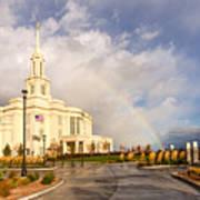 Payson Utah Temple Rainbow Poster