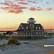 Oregon Inlet Life Saving Station 2687 Pano Signed Poster