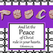Peace - Bw Graphic Poster