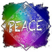 Peace Cool Rainbow 3 Dimensional Poster