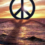 Peace On The Shoreline Poster
