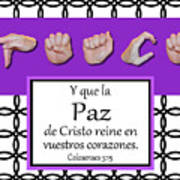 Peace Spanish - Bw Graphic Poster