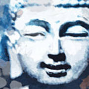 Peaceful Buddha 2- Art By Linda Woods Poster