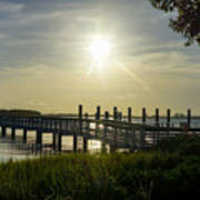 Peaceful Evening At Cooper River Poster