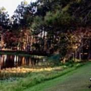 Peaceful Lakeside Park Scene H B Poster