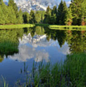 Peaceful Morning In Grand Teton Np Poster