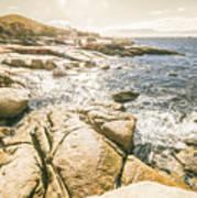 Peaceful Sun Flared Australian Coastline Poster