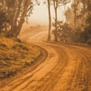 Peaceful Tasmania Country Road Poster