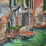 Peaceful Venice Canal Poster