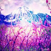 Peach Blossoms And Mount Lanborn Vi Poster