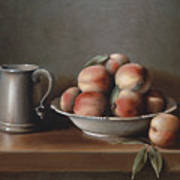 Peaches And Pewter Poster