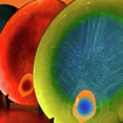 Peacock Colors Poster by Farah Faizal