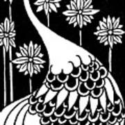 Peacock Illustration From Le Morte D'arthur By Thomas Malory Poster