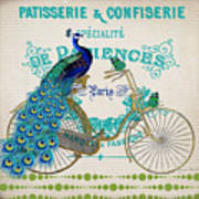 Peacock On Bicycle-jp3608 Poster
