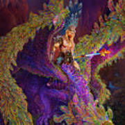 Peacok Dragon Poster