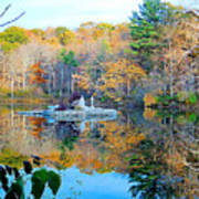 Peak Autumn Reflection 6 Poster
