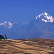 Peaks And Fields Near Cusco Peru Poster