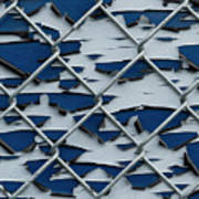 Pealing Paint Fence Abstract 2 Poster