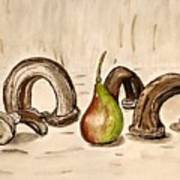 Pear Near Ancient Handle Jar. Poster