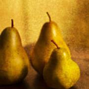 Pear Trio Poster by Rebecca Cozart