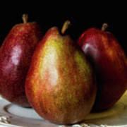 Pear Trio Still Life Poster