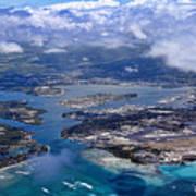 Pearl Harbor Aerial View Poster