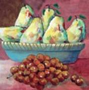 Pears In A Bowl Poster