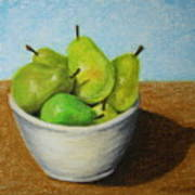 Pears In Bowl 2 Poster