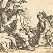 Peasant Couple At Rest Poster