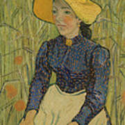 Peasant Girl In Straw Hat Poster