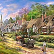 Peasant Village Life Poster