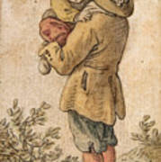 Peasant With Child Poster