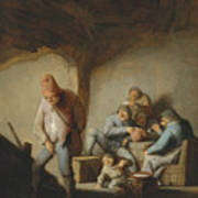Peasants In The Interior Of An Inn Poster